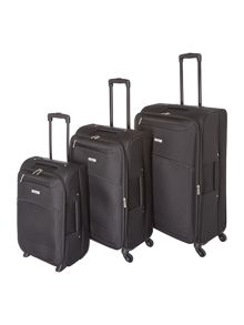 Linea oxford black luggage set