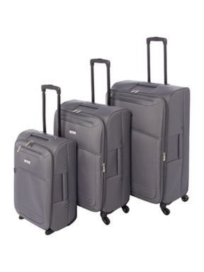 Linea Oxford grey 4 wheel luggage set