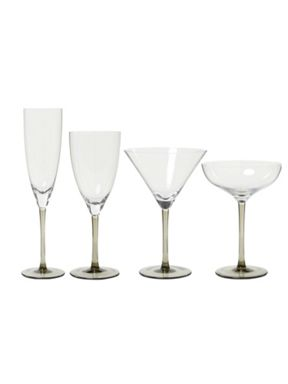 Linea Smoke Stem Glassware Range