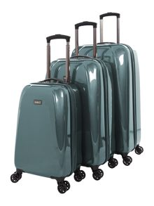 Antler Puck Teal 4 Wheel Luggage Set