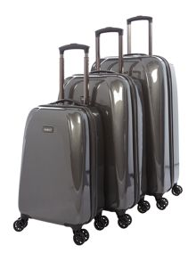 Antler Puck Charcoal 4 Wheel Luggage Set