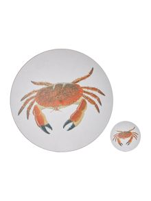 Jersey Pottery Seaflower crab tableware range