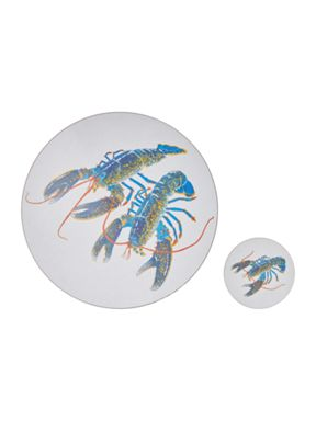 Jersey Pottery Seaflower blue lobster tableware range
