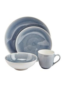 Linea Blue Crackle Dinnerware Range