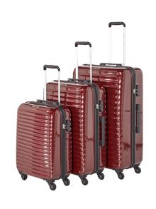 Delsey Axial elite burgundy 4 wheel luggage set