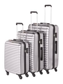 Delsey Axial Elite Silver 4 Wheel Luggage Set