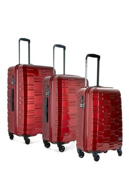 Antler Prism Burgundy 4 wheel hard luggage set