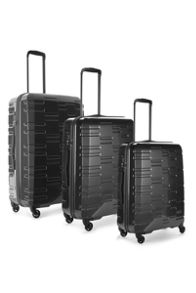 Antler Prism Charcoal 4 Wheel hard luggage set