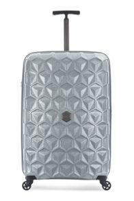 Antler Atom Silver 4 Wheel Hard Luggage Set