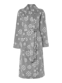 Linea Snowflake fleece robe range in grey