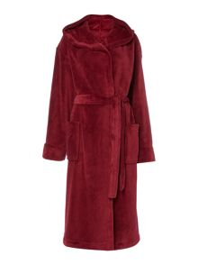 Linea Fleece robe range in red