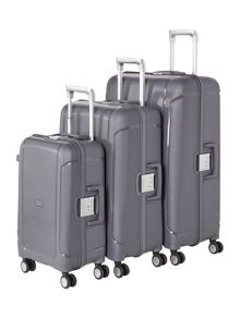 Linea Clip It Charcoal 8 Wheel Luggage Set