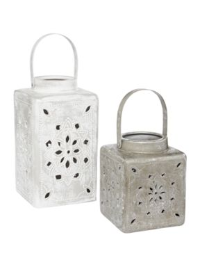 Junipa Metallic Ceramic Lantern Range