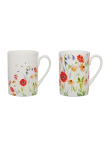 Linea Meadow Floral Mugs Range