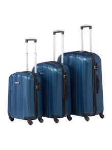 Linea Boston Teal 4 Wheel Luggage Set