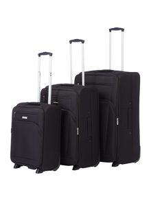Linea Hamilton Black 2 Wheel Luggage Set