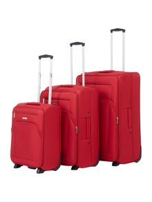 Linea Hamilton Red 2 Wheel Luggage Set