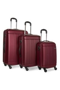 Antler Pluto Red 4 Wheel Luggage Set