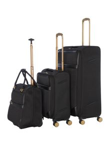 Linea Airlite Black 4 Wheel Luggage Set
