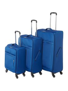 Linea Airlite Blue 4 Wheel Luggage Set