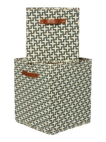Living by Christiane Lemieux Geometric Canvas Basket Range