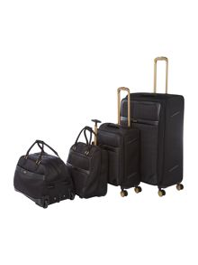 Biba Opulence Jacquard Black Luggage Set