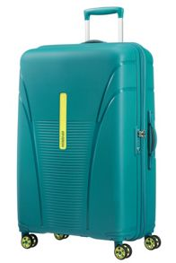 American Tourister Sky Tracer luggage set in spring green