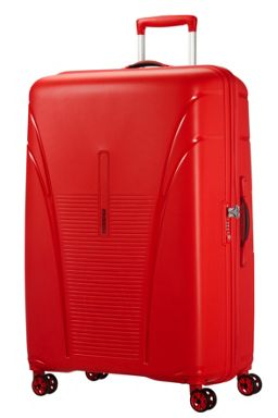 American Tourister Sky Tracer luggage set in red