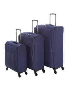 Antler Oxygen Navy 4 Wheel Luggage Set