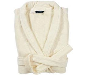 Christy Luxury egyptian robe in parchment
