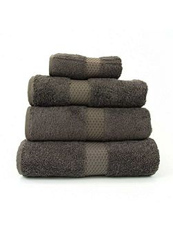 Etoile taupe guest towel
