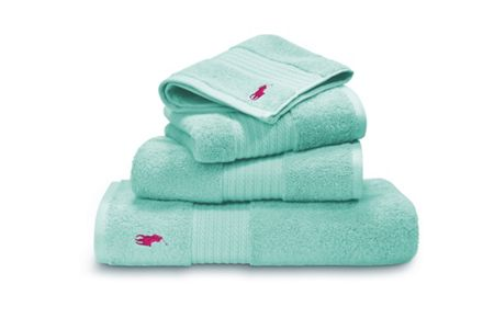 Ralph Lauren Home Player aqua hand towel