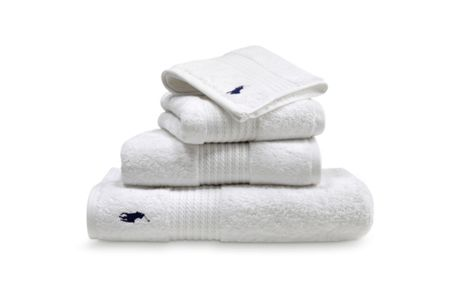 Ralph Lauren Home Player white bath sheet