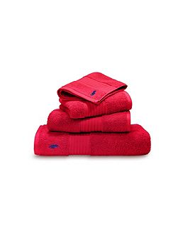 Player red rose hand towel
