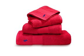Ralph Lauren Home Player Red Rose Towel Range