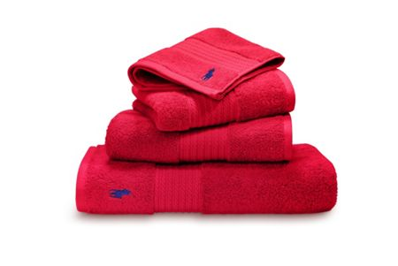 Ralph Lauren Home Player red rose bath sheet