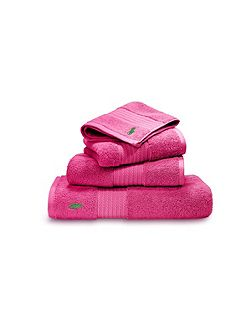 Player pink guest towel