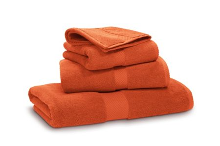 Ralph Lauren Home Avenue orange bath towel