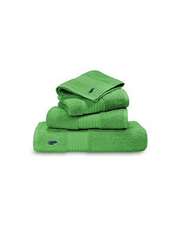 Player green guest towel
