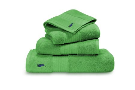 Ralph Lauren Home Player green wash towel