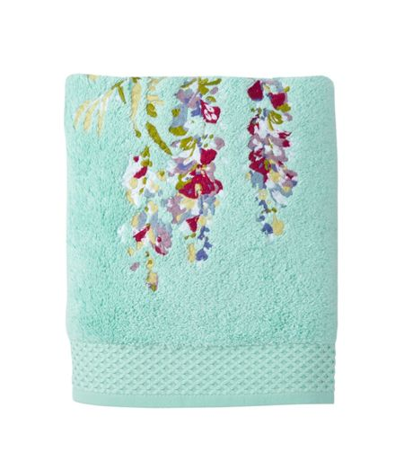 Yves Delorme Pergola Glace guest towel
