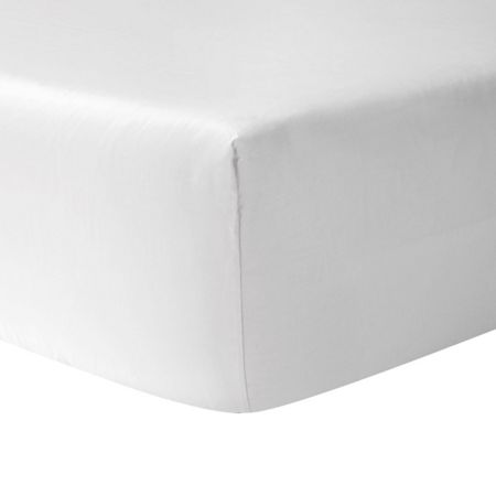 Yves Delorme Athena/Etoile blanc king fitted sheet