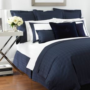 Ralph Lauren Home Glen Plaid bedding range in Navy