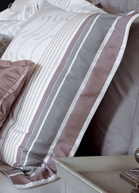 Yves Delorme Architex bed linen in silver