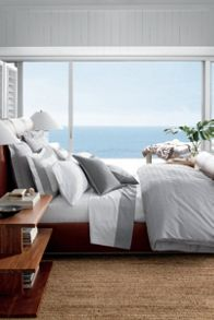 Glen Plaid bedding range in silver