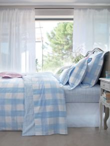 Plein air bleu bed linen