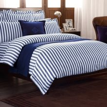 Club Stripe bedding range in navy