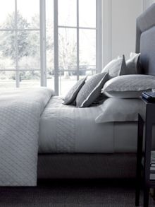 Losanges silver bed linen