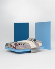 Kenzo Neon multi square pillowcase