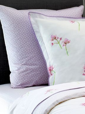 Yves Delorme Jetaime parme bed linen